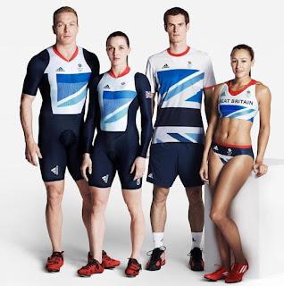 distinctive uniforms worn by Team GB at London olympics