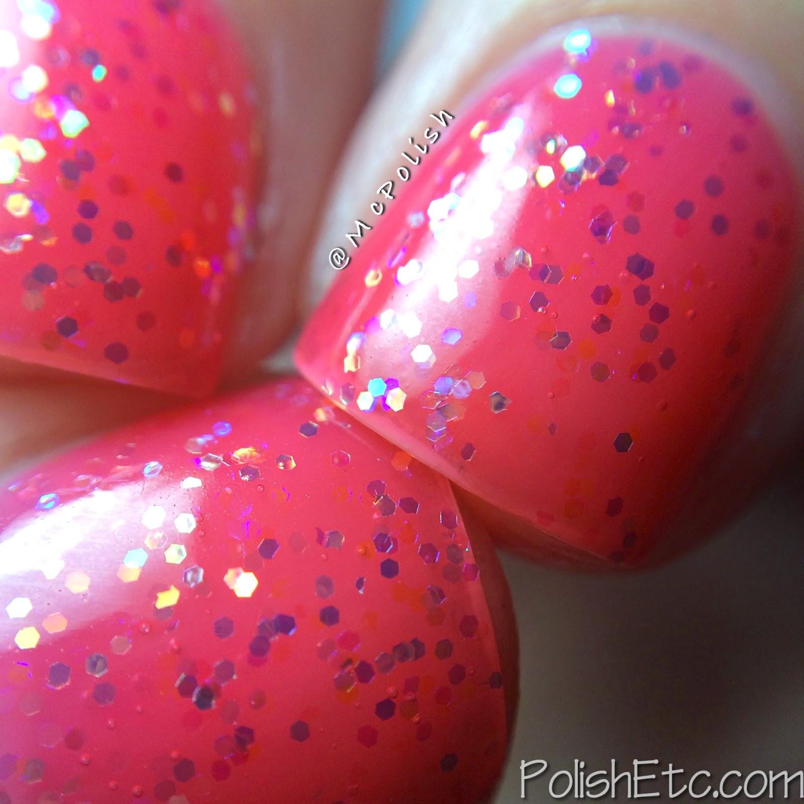 Pure Ice - New Year New Hue Jellies - Rosy Glow - McPolish - Macro