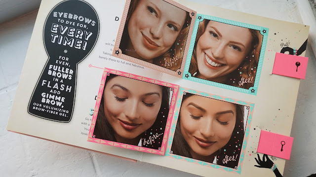 The curious case of the brows dilemma by Benefit Cosmetics. A full book of everyone's eyebrow dilemma from too thin, too thick, how to shape and what products to use. A complete guidance for the beginner in eyebrow lesson and the products are brow zings, high brow and gimmer brow.