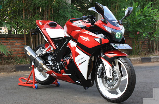 referensi modifikasi cbr 150 merah