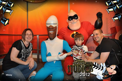 Ethan meets The Incredibles at Hollywood Studios