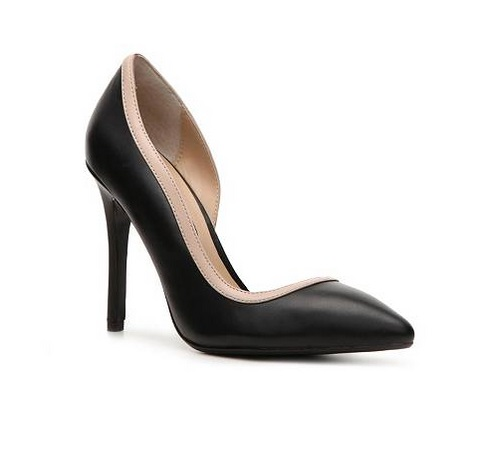 Steven by Steve Madden black high heeled d'orsay pumps