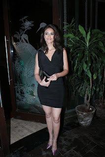 Ileana D'Cruz  Pictures in Black Short Dress at Phata Poster Nikla Hero Movie Completion Party  0012
