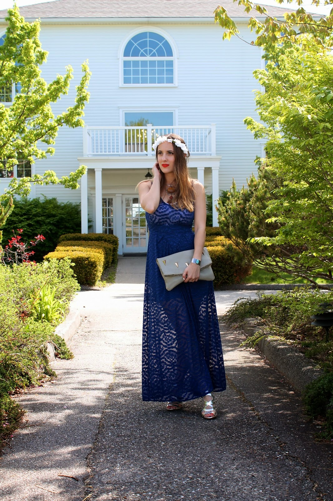 Renaissance, June & Hudson, vintage, LF Stores, Claire's, prep, bohemian, street style, wedding style, travel, outfit inspiration, outfit ideas, maxi dress, metallic, amber, flower crown