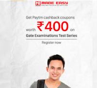 Free Rs. 400 PayTm cash on Made Easy Gate Examinations Test Series