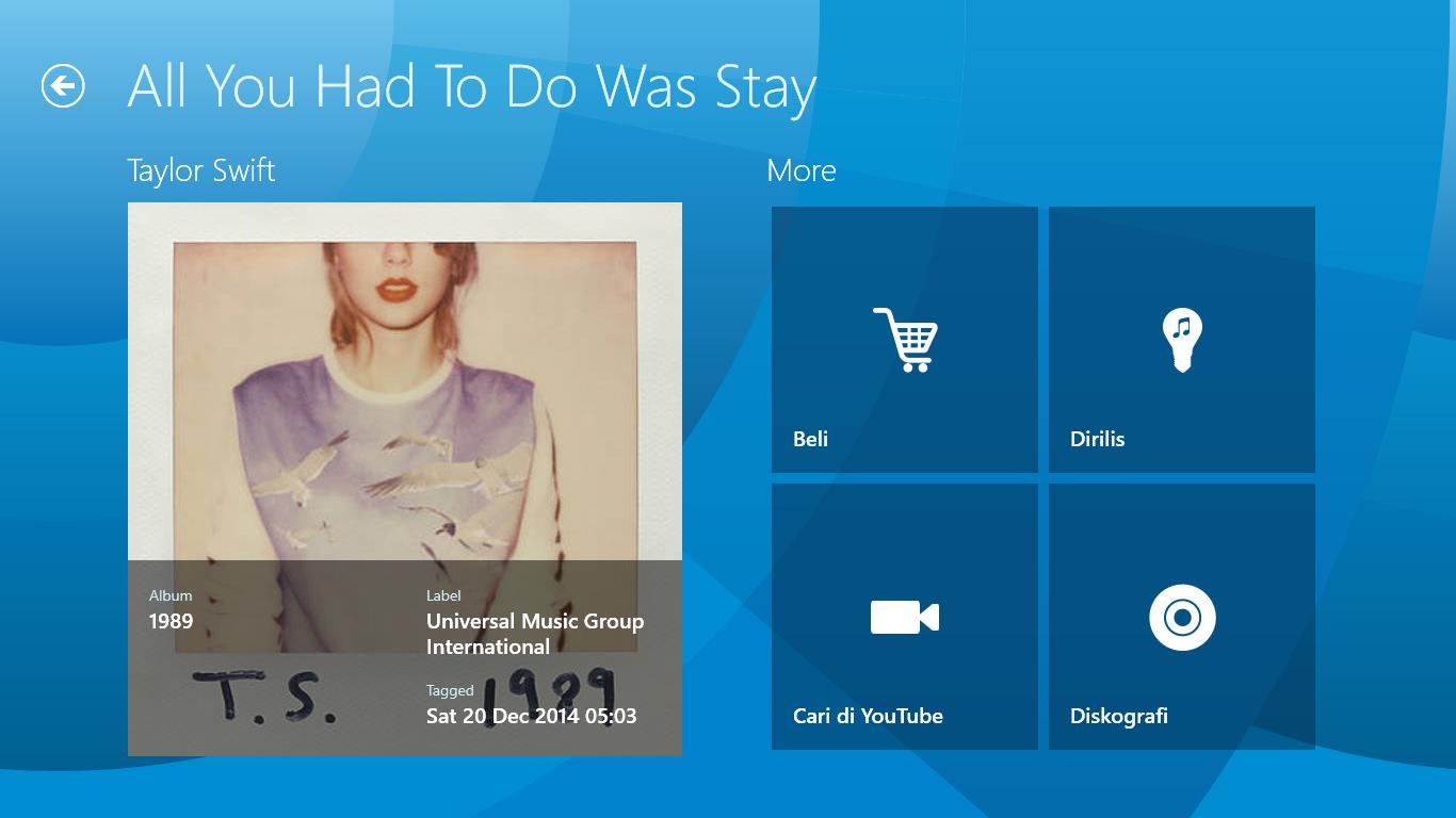 Shazam di Windows 8.1