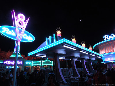 Cars Land Carsland DCA Disney California Adventure Flo's