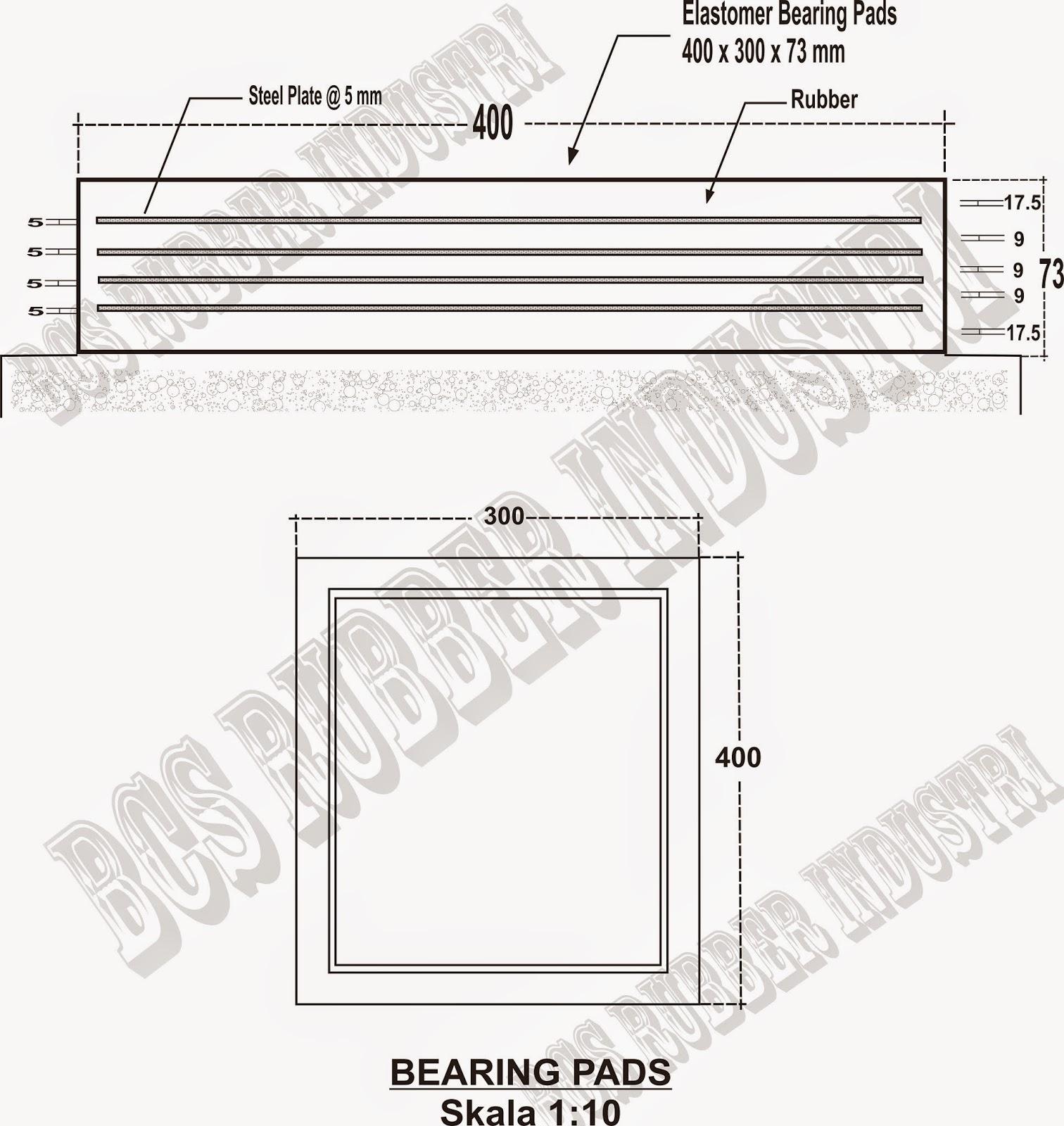 Elastomeric Bearing Pads Laminated, Elastomer Bearing Pad / Bantalan Jembatan, Elastomer Jembatan, Elastomer Jembatan dan Gedung, Elastomeric Bearing Pads,