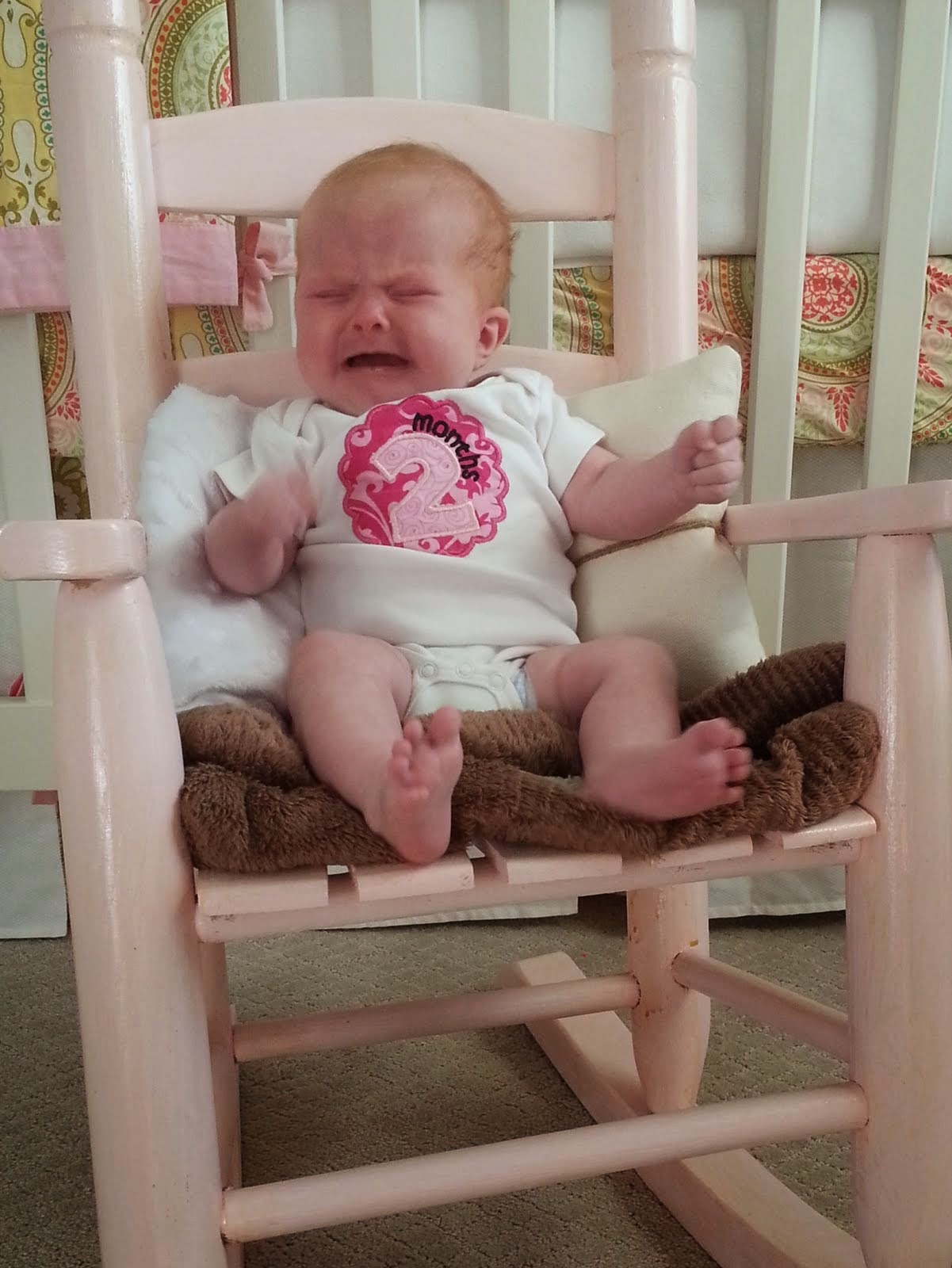 June showing her temper at 2 months