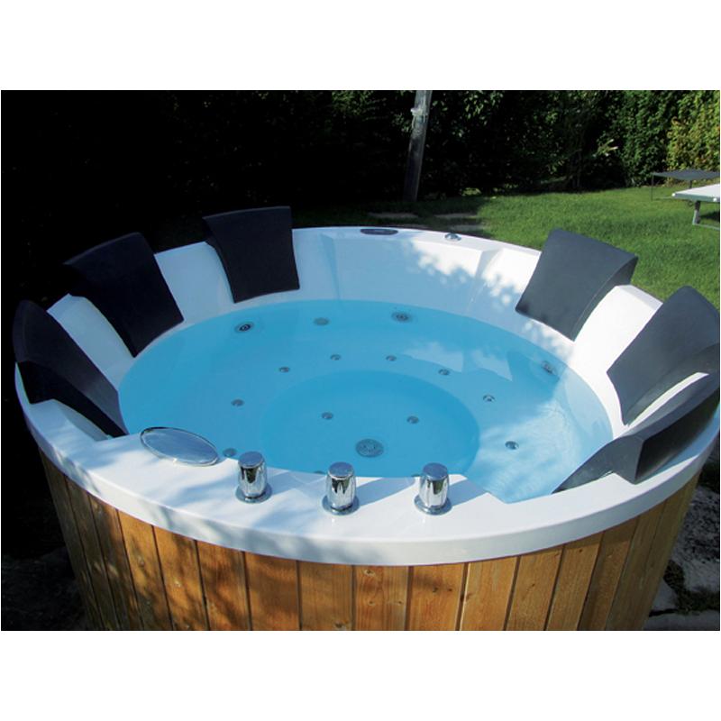 Mini piscine da giardino hydrospa seaside teuco piscine e for Piscina vetroresina usata