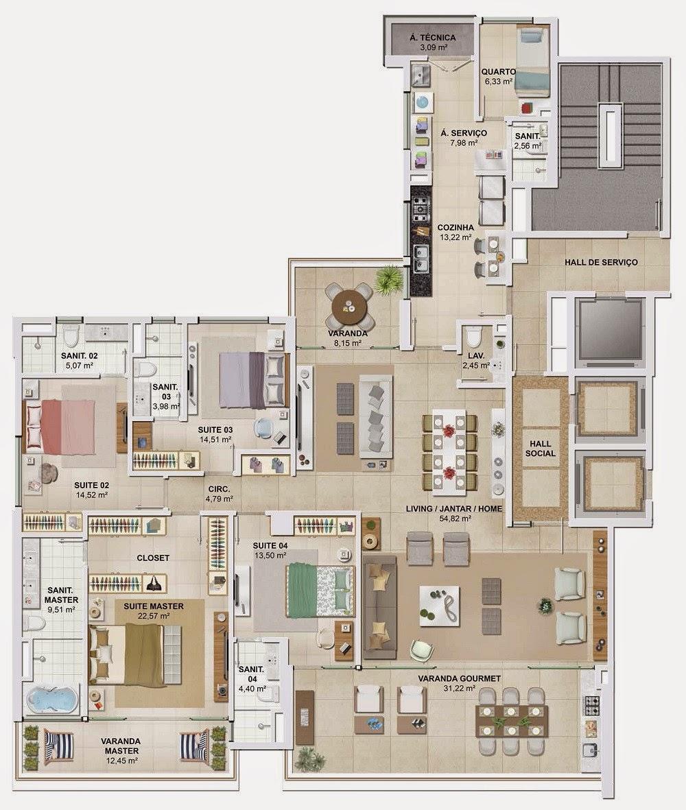 D´Azur Jaguaribe Salvador - apartamento tipo