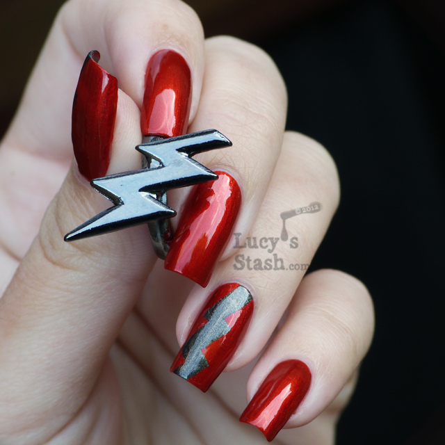 Lucy's Stash - Lightning Bolt Tape Manicure