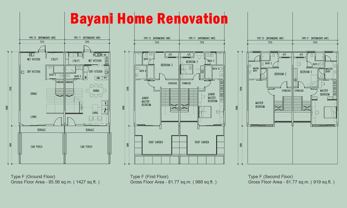 Idea Plan Rumah Teres Modern