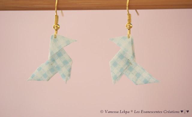 origami tissu a carreau