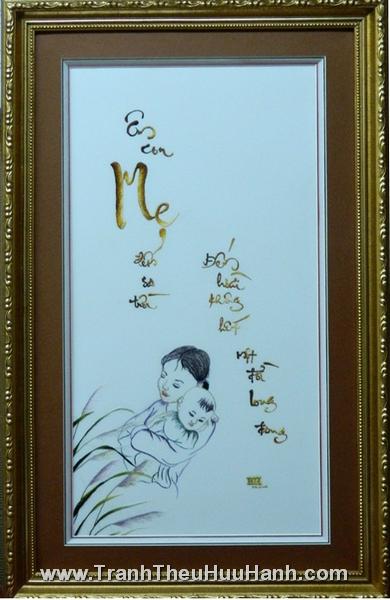 Bộ sưu tập Tranh Thêu mừng Ngày Vu Lan 2012