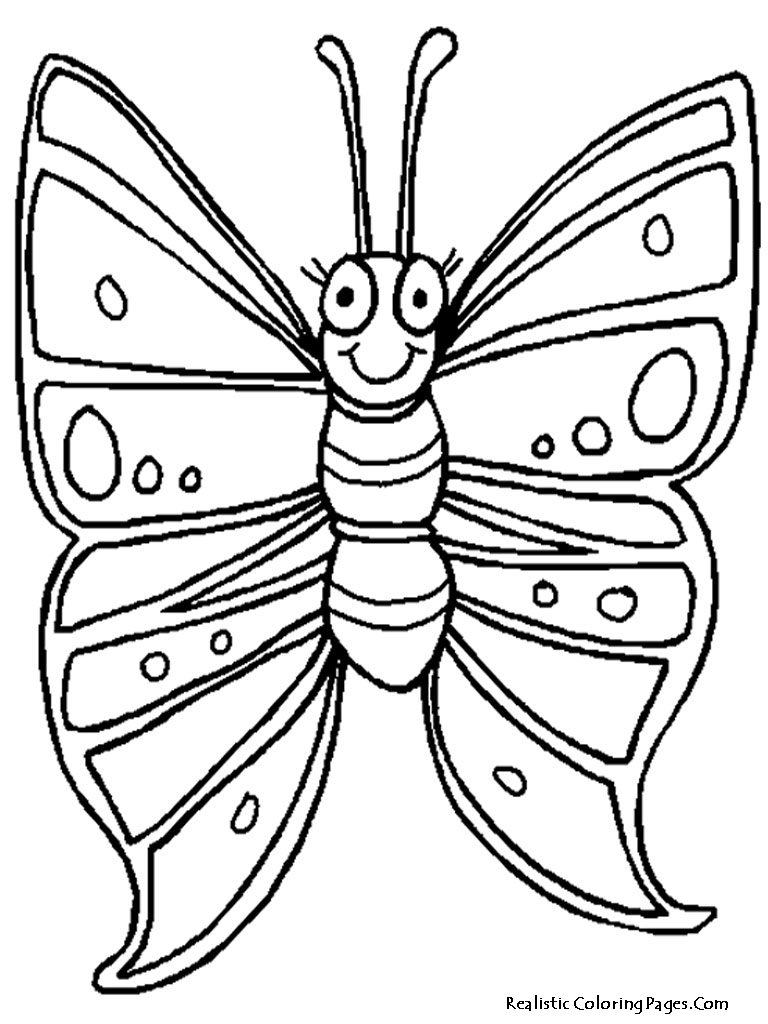 realistic butterflies coloring pages - photo#15