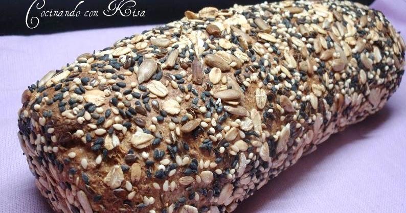 Cocinando con kisa pan de miel lino y semillas for Pane con kitchenaid