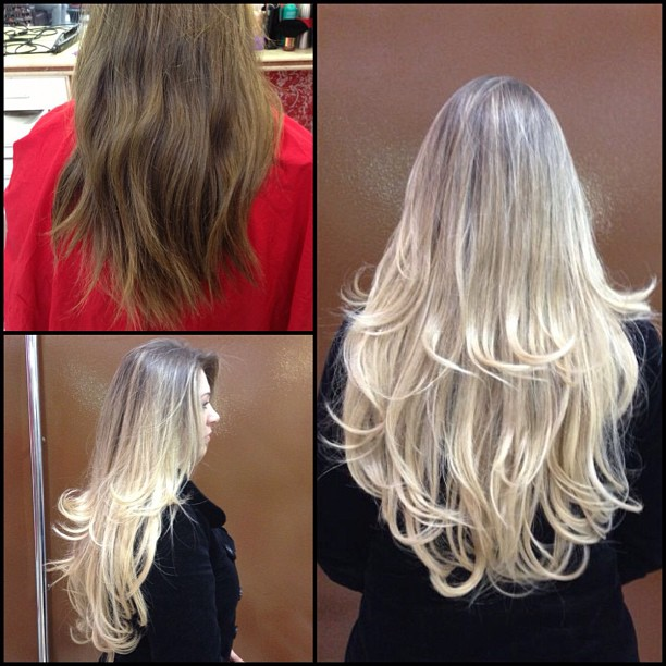 alongamento de cabelos