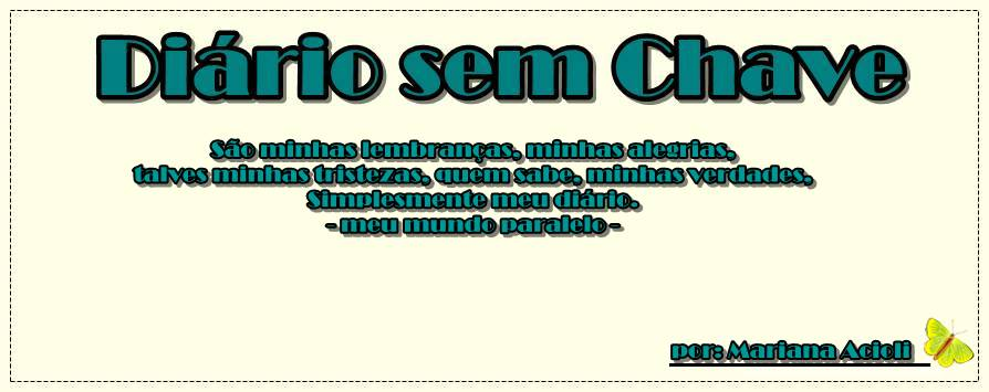 Diario Sem Chave.