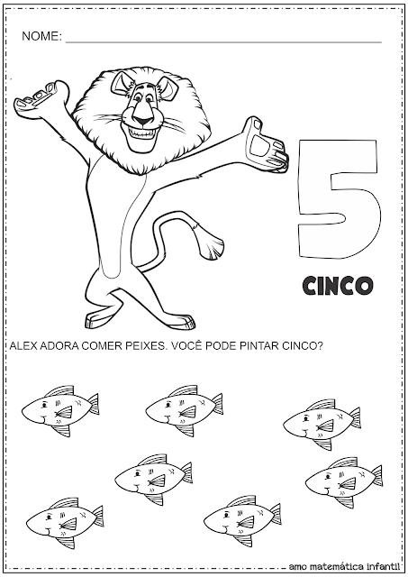 Madagascar Números 4 e 5 Atividades