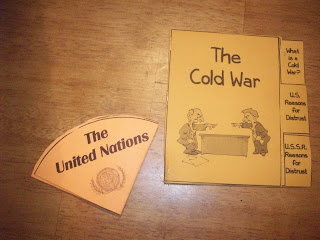 United Nations (UN) and Cold War lapbook components