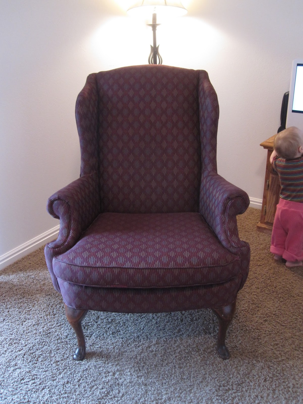 DIY Torture (i.e. Reupholstering A Wingback Chair, Part 1)