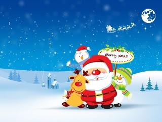 Merry Christmas - čestitka za Božić download besplatne pozadine slike za mobitele