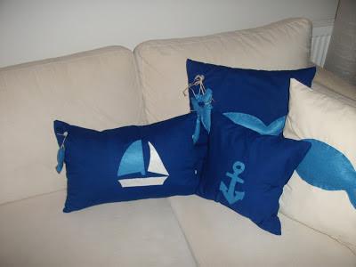 deniz temalı yastıklar