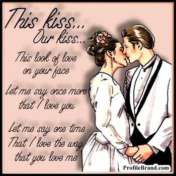 romantic kiss quotes