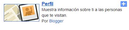 Gadget de pefil de Blogger