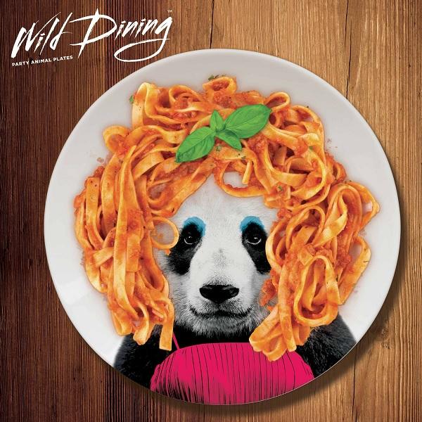 talerz wild dinning panda
