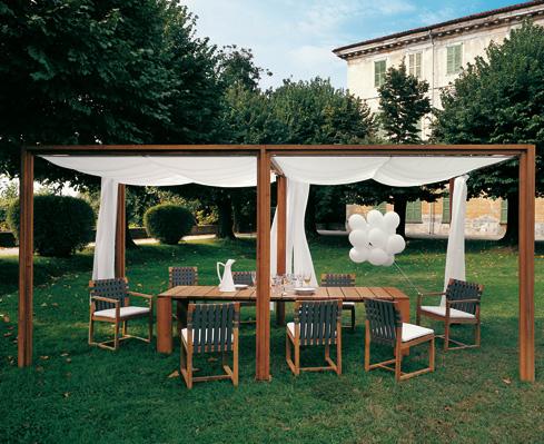 I mobili per il giardino tavoli e sedie per il giardino