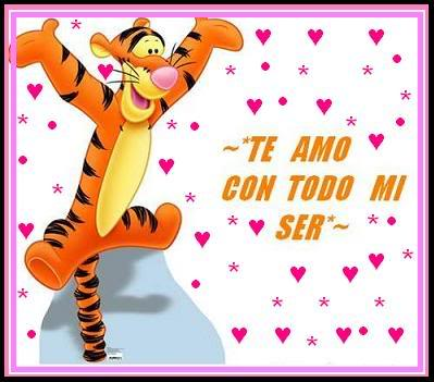 Winnie Pooh con frases de amor