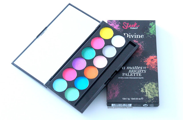 Sleek i-Divine Ultra Mattes V1 Brights Palette swatch review