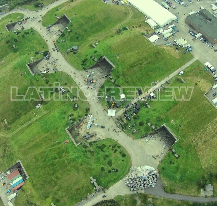 Vista aérea del set de rodaje de  Star Wars episode VII