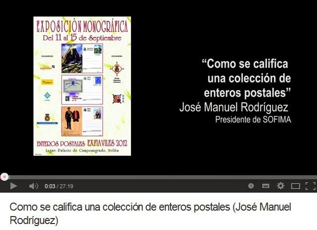 COMO SE CALIFICA UNA COLECCIÓN DE ENTEROS POSTALES (JOSÉ MANUEL RODRIGUEZ)