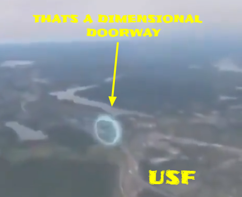 Dimensional Portal Filmed From Out Of A Plane Window 👽💫🌌✨👽