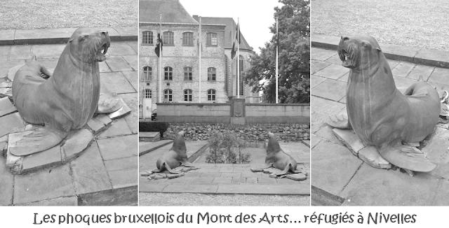 """Mont des Arts - Bruxelles disparu - Les """"phoques"""" bruxellois réfugiés à Nivelles après la destruction de leur environnement d'origine - Bruxelles-Bruxellons"""