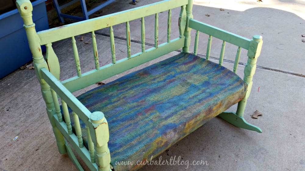 Repurposed Headboard Bench Before
