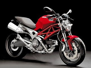 hybrid motorcycles of ducati red monster