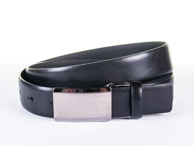 Czarny pasek do garnituru Jawor JW05