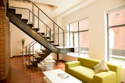 Inspiring home design korean wood staircase design - Living room design with stairs ...