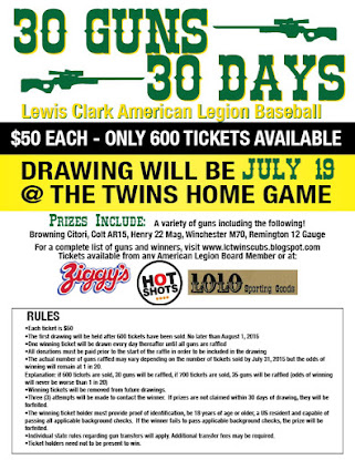 30 Guns in 30 Days Fundraiser! Get your Tickets Now! Quantities Limited! Don't Miss Out!