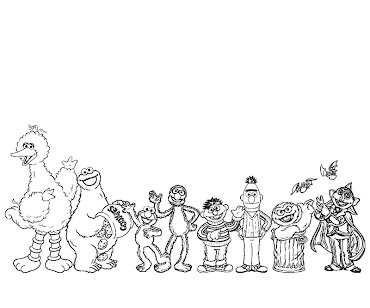 #2 Sesame Street Coloring Page