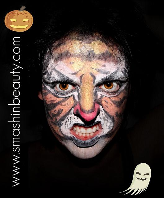 Tiger Halloween Makeup Tutorial Face Painting | SMASHINBEAUTY