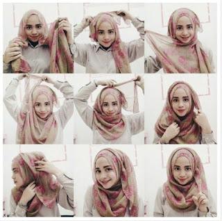 hijab untuk wajah bulatdan berkacamata