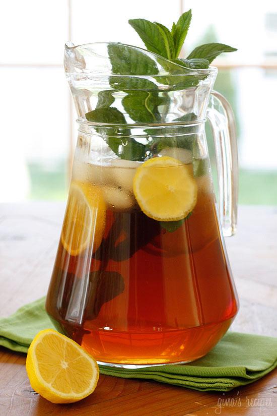 Freshly Brewed Ice Tea with Fresh Mint   Skinnytaste