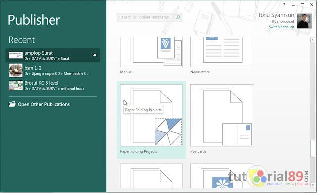Cara membuat origami dengan publisher