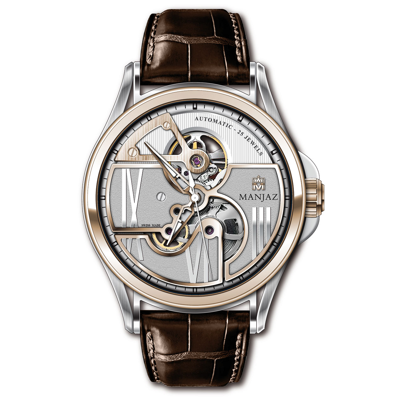 Manjaz Apollo Premium Skeleton Automatic Watch