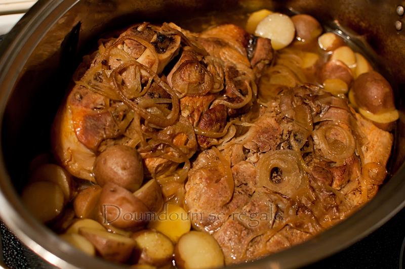 R ti de porc aux patates jaunes doumdoum se r gale - Comment cuisiner le coeur de boeuf en tranche ...